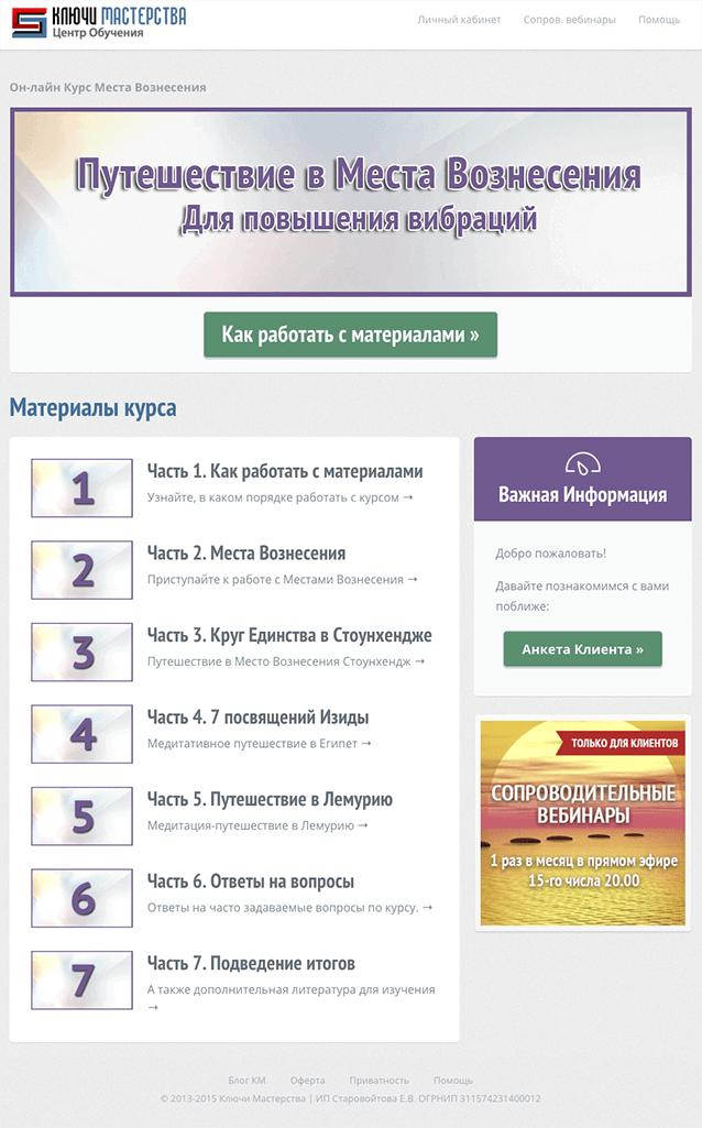 Онлайн курс Места Вознесения
